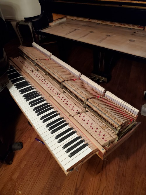 Steinway Grand Piano 1982 Model M Satin Ebony 5'7