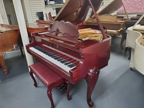 Art Case Cherry Mahogany Samick Baby Grand Piano 5'2