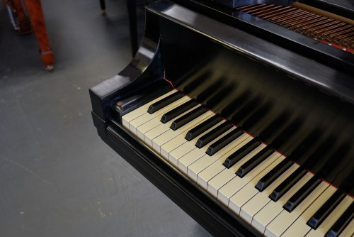 Steinway L Ebony Grand Piano, Rebuilt/Refinished Warranty $17,950