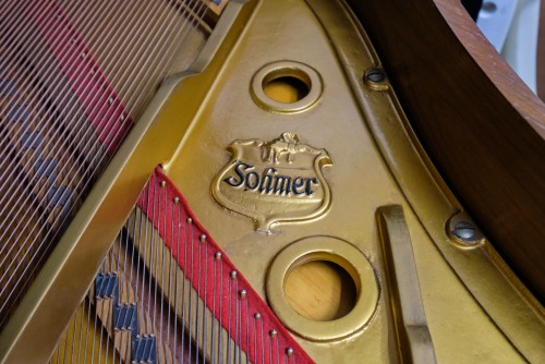 (SOLD) Sohmer Baby Grand Walnut 1970 Refurbished Excellent
