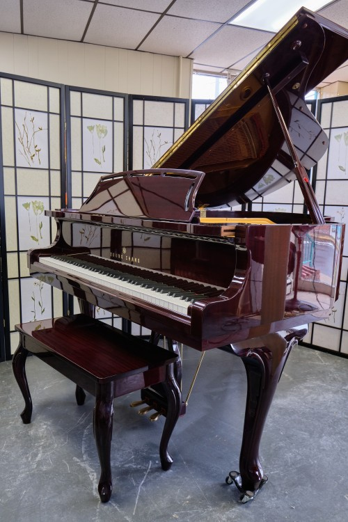 (SOLD)Young Chang Mahogany  w/ PianoDisc IQ Player System comes with iPad loaded with music