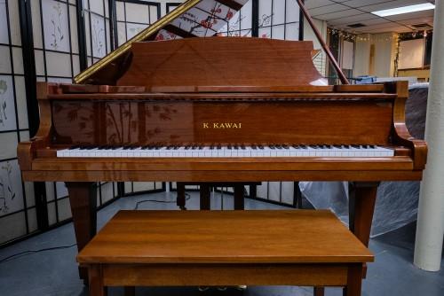 Kawai KG1E Grand Piano Hi-Gloss, Polished Walnut 1988 Like New  $5900.