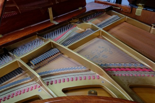 Story & Clark Baby Grand w/CD Player System 2002 Mahogany By Sonny's Pianos & Piano Yoga