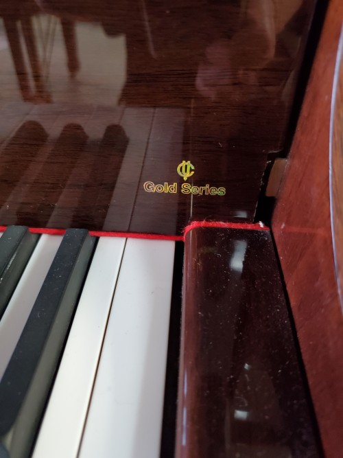 Young Chang Gloss Mahogany 2003 5' Baby Grand w/QRS CD Player System