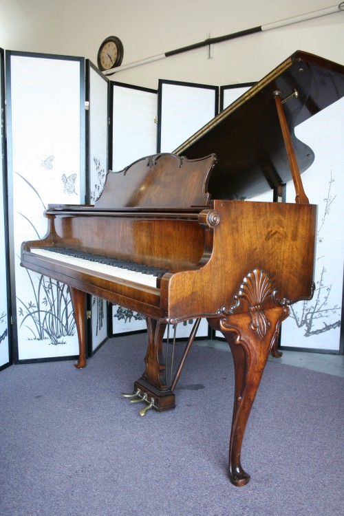 (SOLD -Congratulations & Thank you Jerilyn) Art Case Hardman Baby Grand Piano Carved legs and decorative case.