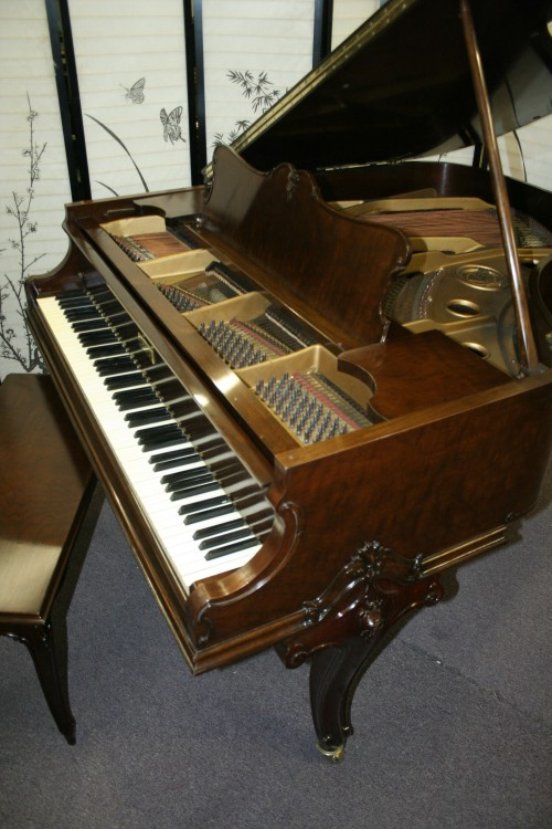 (SOLD Going To Florida) Art Case Knabe Baby Grand Piano  Unique Hand Carved Legs Decorative Case