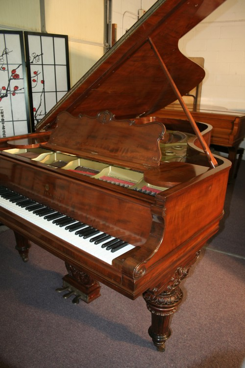 (SOLD) Victorian Steinway Grand Piano Model C Steinway Grand Piano 7'5' Rebuilt/Refinished