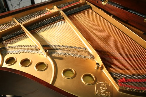 (SOLD) Steinway Baby Grand Piano Model S 5'1' 1942 Gorgeous Cherry Flame Mahogany Rebuilt/Refinished