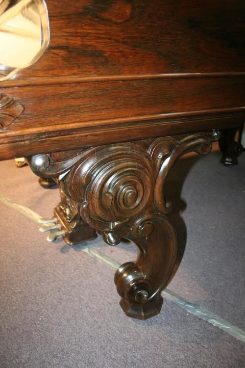 (SOLD) Steinway Victorian Art Case Steinway Model B Rosewood Cabriolet Legs Rebuilt & Refinished