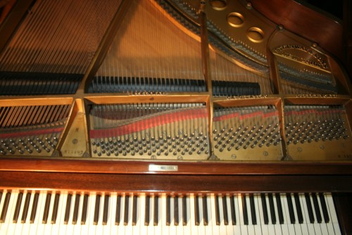 (SOLD) Pre-owned Used Steinway Grand Piano Model M Mahogany 1933 Refurbished