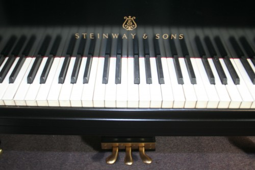 (SOLD) Steinway Baby Grand Piano Model S 5'1' Ebony Black 1945 (VIDEO) Just Refinished/Refurbished 9/15/2013