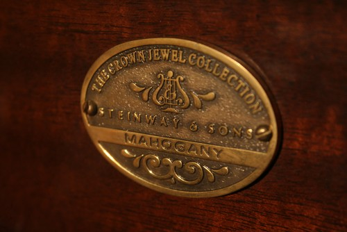 (SOLD)Art Case Steinway Grand Piano Model M 2003 (VIDEO) from the 'Crown Jewel' Series with PianoDisc Player System