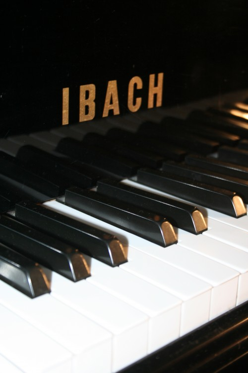 (SOLD)IBACH Concert Grand Piano Ebony 7' 1990 Renner Action, Outstanding Instrument
