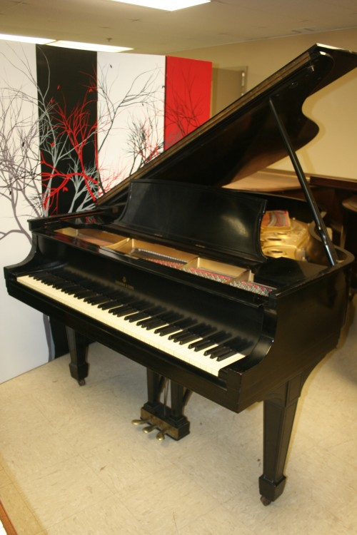 (SOLD) Steinway L Ebony Grand Piano 1939 Recently Rebuilt/Refinished 18,500