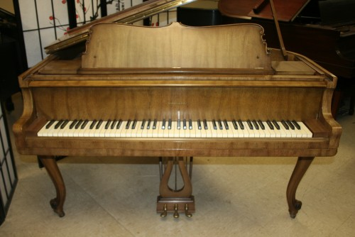 (SOLD) Art Case Harrington Baby Grand Piano 5' Cabriolet Legs