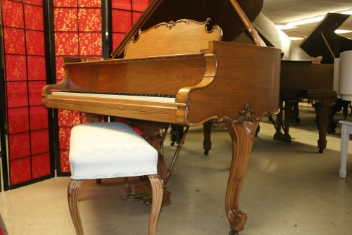(SOLD) Art Case Steinway Model M Grand Piano King Louis XV Walnut