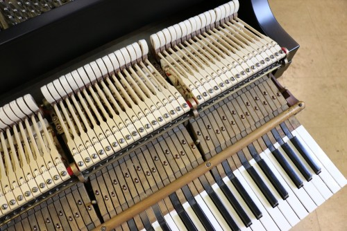 (SOLD)!!! Steinway Model M Piano (VIDEO) new Satin Ebony Black Finish 1923 Recently Rebuilt