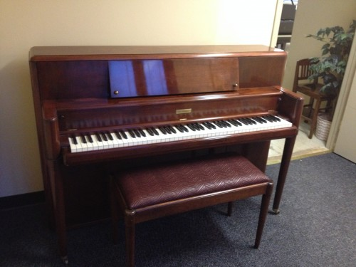 SOLD- Art Case Steinway Console Piano 1947 Refurbished Exotic African Mahogany (SOLD)