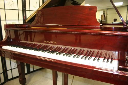 Red Mahogany Samick Baby Grand Piano 1989 (SOLD)