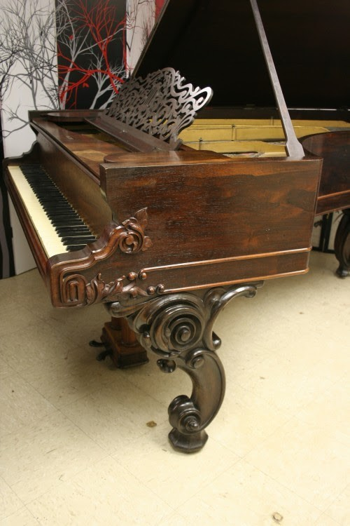 SOLD (WHOLESALE) Art Case Victorian 1863 C  (VIDEO) Rosewood 85 Notes 2 Pedals