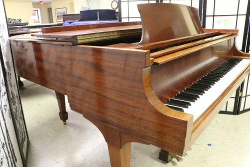 Steinway M Exotic African Mahogany 1948 SOLD (VIDEO) Rebuilt 10 years ago. Excellent In and Out!