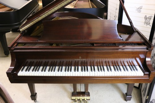 (SOLD) Steinway Baby Grand Model S (VIDEO) Mahogany 1946 Video Excellent Condition Original Steinway Parts