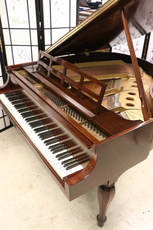 (SOLD) Art Case Steinway Model S Baby Grand Rare Sheraton Style, Mahogany Refin./Refurbished (SOLD)