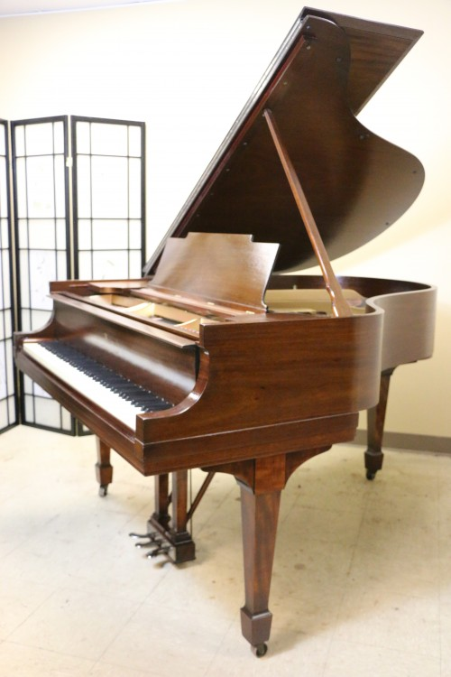 (SOLD Congrats. Christine) Steinway M Grand Piano (VIDEO) Exotic African Mahogany Rebuilt/Refin.