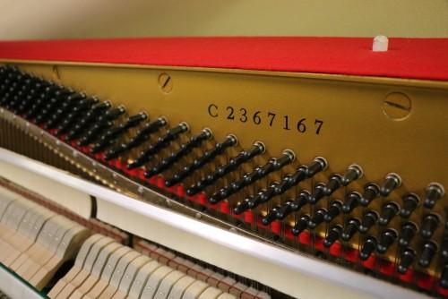 White Gloss Ivory Yamaha Upright Piano Low Mileage (SOLD)