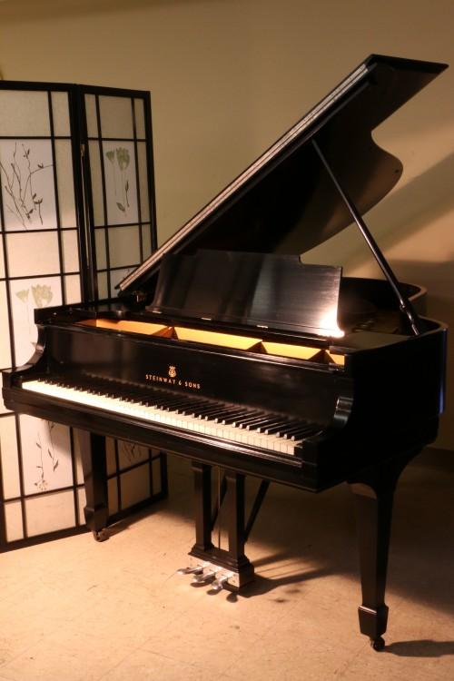 (SOLD! CONGRATS NABA AND FAMILY!!) Steinway M Ebony  Grand Piano 5'7