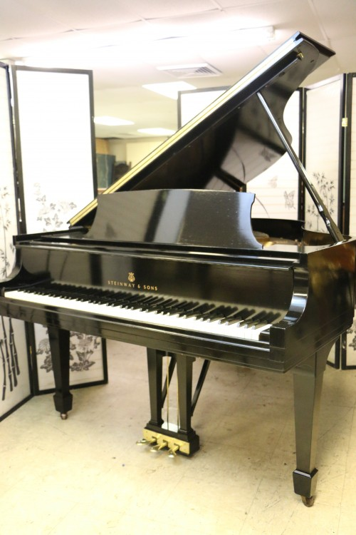 (SOLD) Steinway M Ebony Gloss 1950 Reconditioned 8/2015