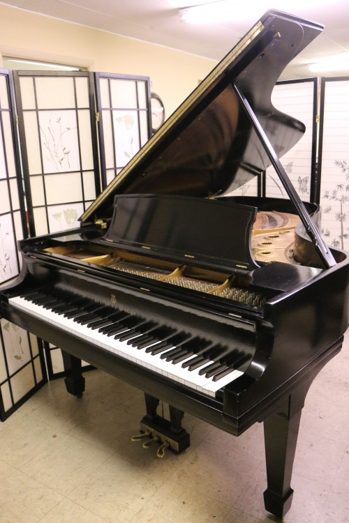 Steinway B 6'10.5 1960 Ebony Steinway Action Recently Upgraded & Regulated, New Finish