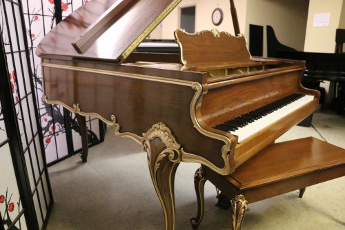 (SOLD) Hand Painted Art Case Sohmer Grand Cupid Model Reblt./Refin. $9500.