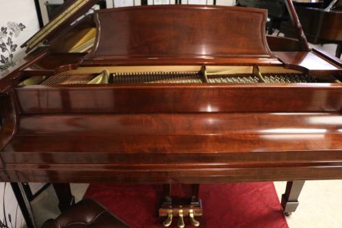 (SOLD congratulations Mike & family) Steinway B Grand Piano Beautiful Art Case Grain/African Mahogany 1948 one owner, Rebuilt All Steinway Parts Brand New Steinway Hammers