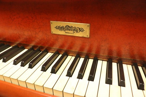 (SOLD Congratulations Wendy ) Rare Hand Painted Japanese Motif Art Case Chickering Grand Piano