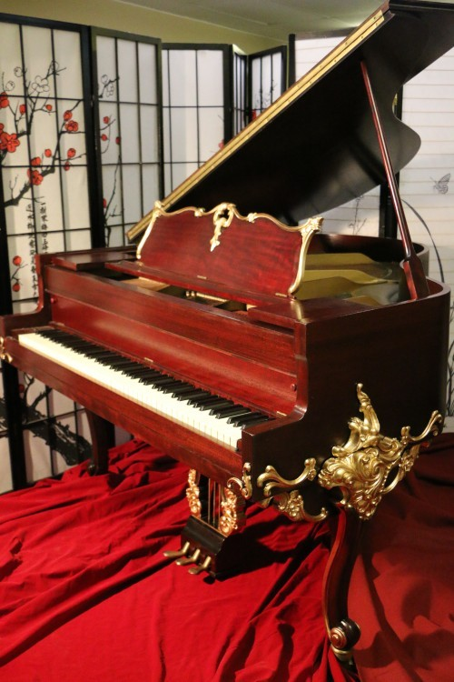 (sold)Luxury Piano Wurlitzer Baby Grand Piano Gorgeous Art Case Refin./Refurbished