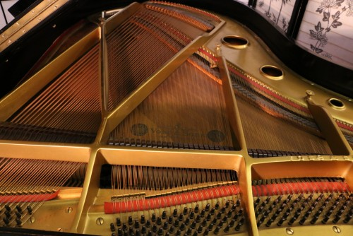 (SOLD) Vose Art Case Grand Piano Hand Painted Gold Trim Refinished & Rebuilt 5'7