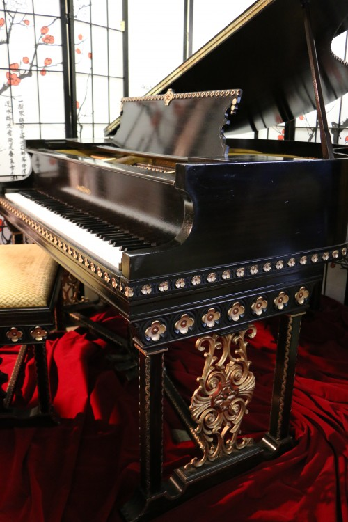 (SOLD) Art Case Marshall & Wendell Spanish Style Baby Grand Piano restored Spring 2016 $5900.