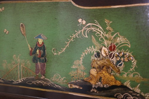 (SOLD) Chinoiserie Art Case Weber Piano w/Hand Painted Nature Scenes Rebuilt & Restored May 2017