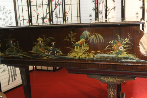 (SOLD)Chinoiserie Art Case Collard & Collard Hand Painted Masterpiece Restored