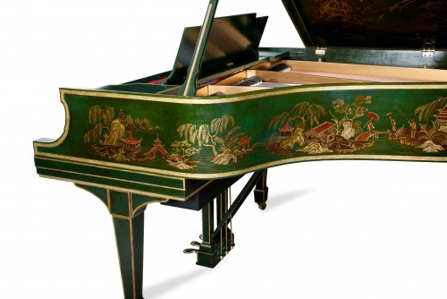 (SOLD) Steinway Grand Piano M Art Case Hand Painted Chinese Style Masterpiece Restored & Rebuilt New PianoDisc IQ Player System!