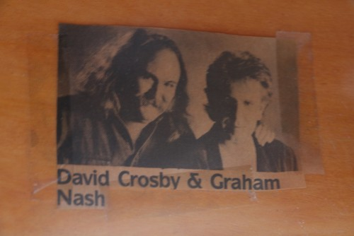 (SOLD) Samick Baby Grand Piano signed by Graham Nash used in 1993 Crosby & Nash Hampton's Concert