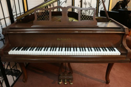 BLOWOUT SALE ONLY $2500. Art Case Knabe Baby Grand Piano, 1978 Excellent, Refinished Beautiful Chocolate Mahogany, Carved Legs $2500.