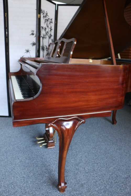 Art Case Knabe Baby Grand Chocolate Mahogany 1956 Refin/Reblt. Queen Anne Legs $4900.
