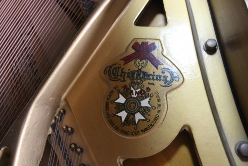 (SOLD) Chickering Baby Grand Piano 5'1 1964 Excellent Walnut