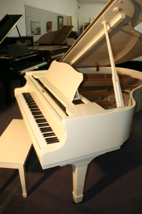 Young Chang Grand Piano Ivory (VIDEO) White Gloss Grand Piano $3900.