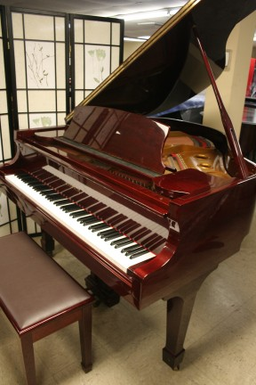 Red Mahogany Samick Baby Grand Piano 1989 $3900.