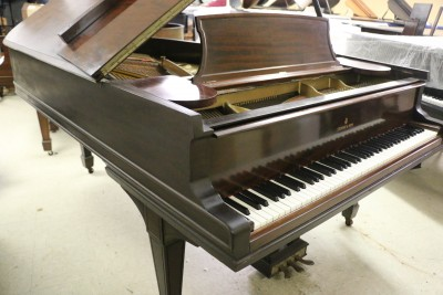 (SOLD) Steinway B 6'10.5 1893 Mahogany (VIDEO) Rebuilt 1997 88 keys