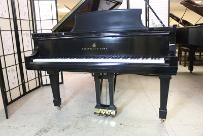 (SOLD) Steinway B Grand Piano (VIDEO) Recent Total High End Rebuild & Refinish Semi-Gloss Ebony 1927