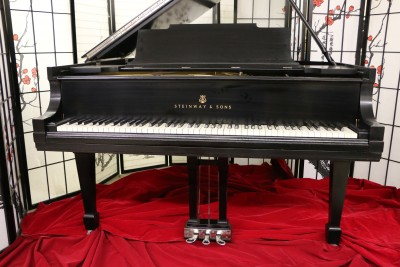 BLOWOUT SALE-Steinway M Piano Satin Ebony 5'7